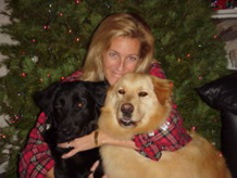 Kathy with Digger and Buddy